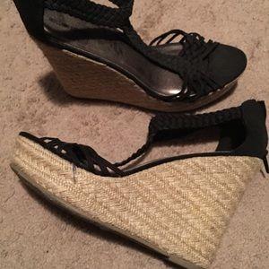Black sandal platform espadrilles